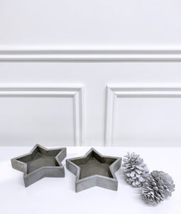 Grey Festive Star Tray