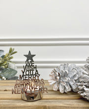 Load image into Gallery viewer, Silver Christmas Tree Candle Holder