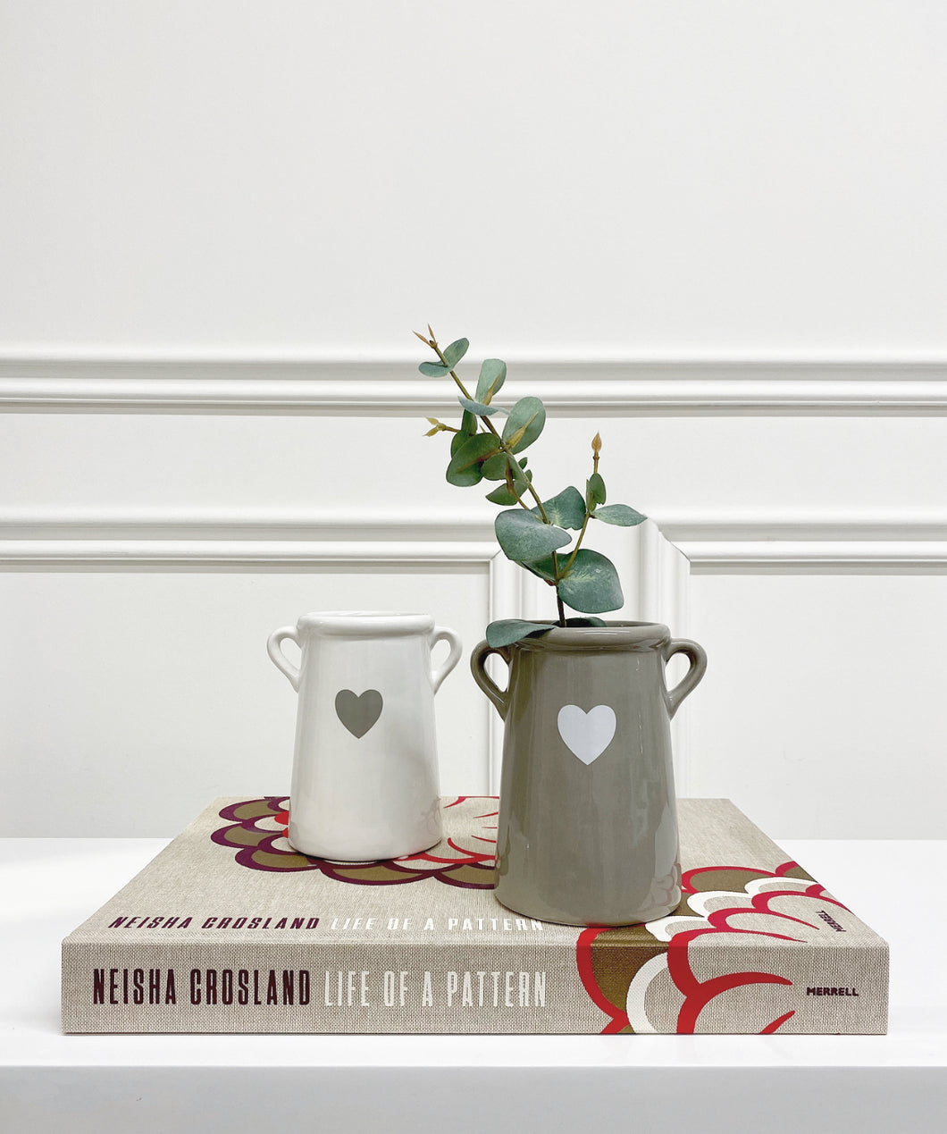 Tall Heart Pot (Available in Two Colours)