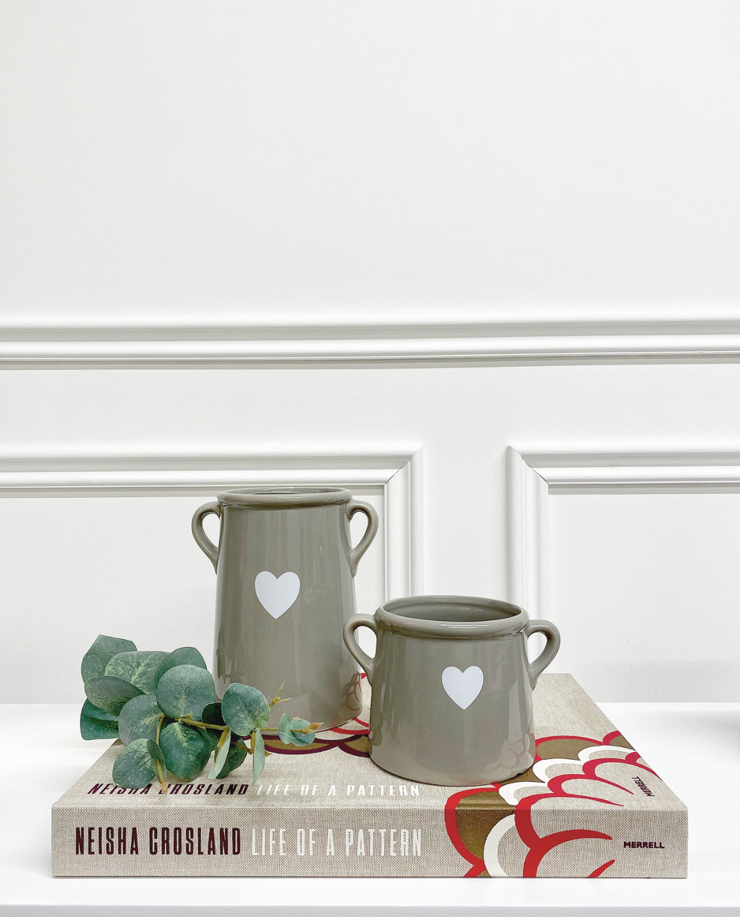 Grey Ceramic Heart Pot (Available in Two Sizes)
