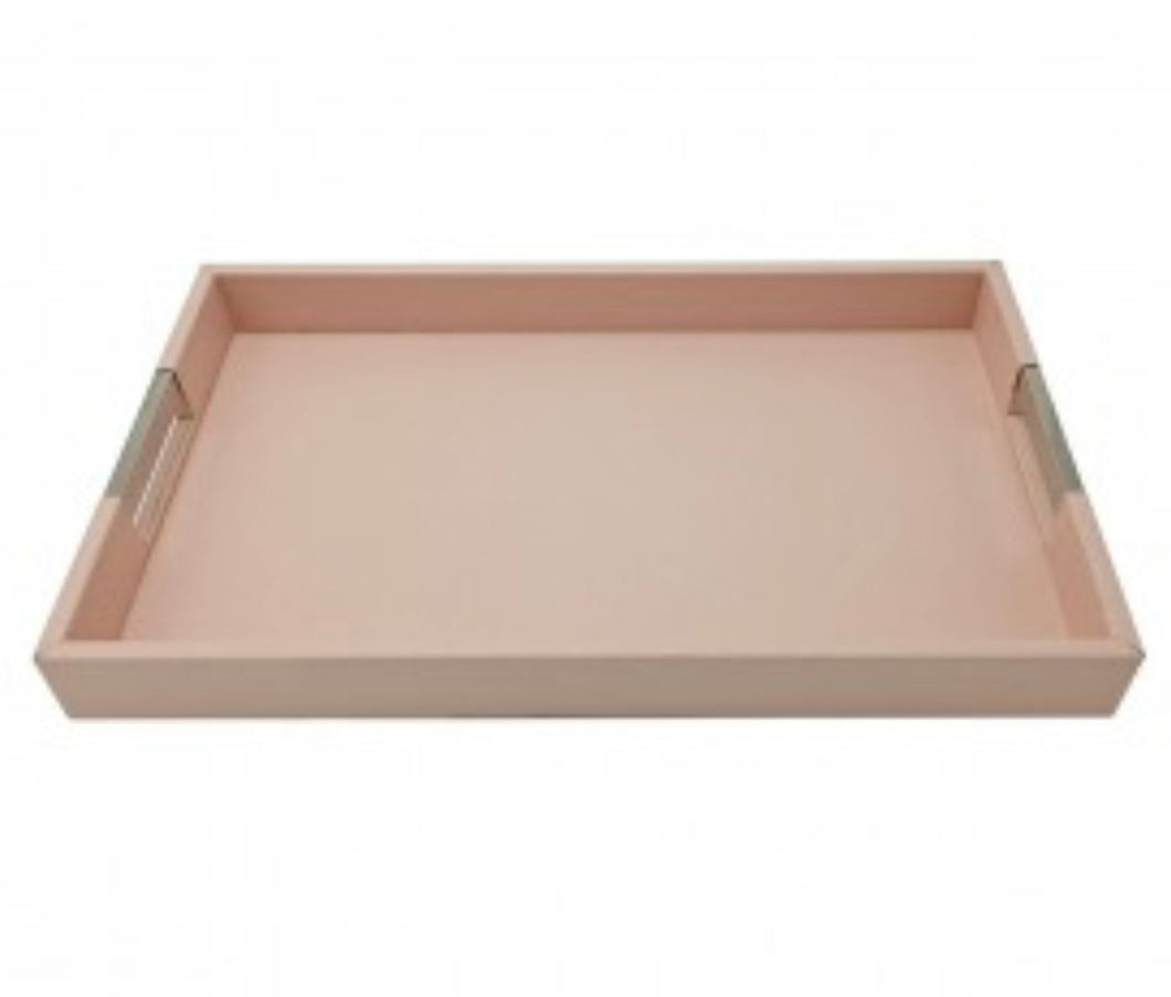 DEFECT Pink Faux Leather Tray