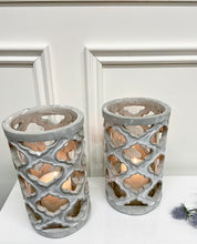 Load image into Gallery viewer, Stone Effect Candle Holder
