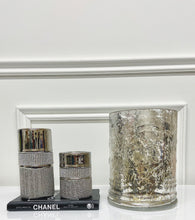 Load image into Gallery viewer, Antiqued Silver Glass Hurricane