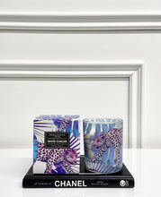 Load image into Gallery viewer, Gisela Graham Purple Leopard Candle with Box - White Ginger Scent