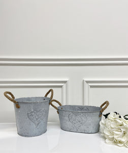 Heart Embossed Planter (Available in Two Styles)