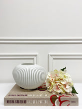Load image into Gallery viewer, Chelsea Ribbed White Vase