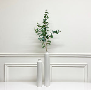 Slim White Vase (Available in Two Sizes)