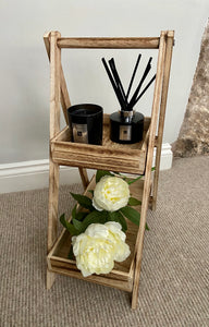 Two Tier Natural Wooden Shelf