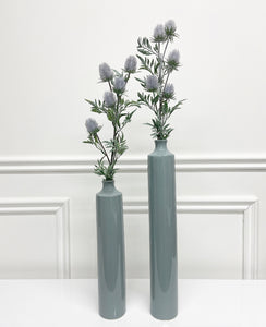 Slim Grey Vase (Available in Two Sizes)