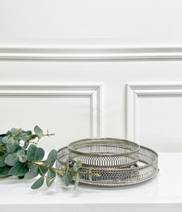 Silver Kinsella Mirror Tray (Available in Two Sizes)