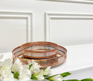 Copper Rosa Mirror Tray (Available in Two Sizes)