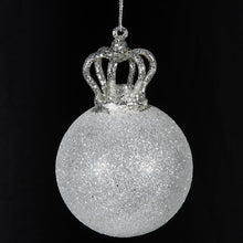 Load image into Gallery viewer, Glass Crown Bauble