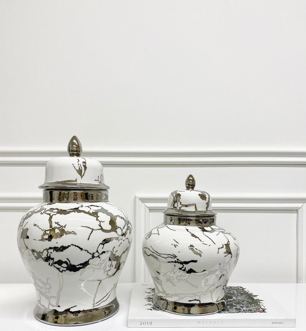 Bentley Marble Ginger Jar (Available in Two Sizes)