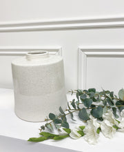 Load image into Gallery viewer, Leila White Cylindrical Vase