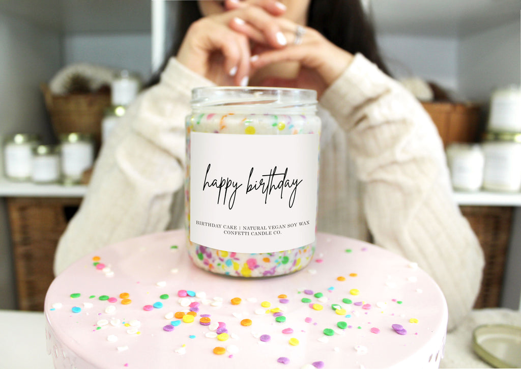 Birthday Candle Confetti Candle Co