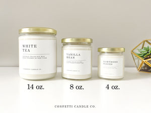 December Candles Soy Wax | Set of 4: Fraser Fir, Roasted Chestnuts, Gingerbread Cookie, Cozy Flannel