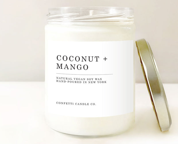 Coconut + Mango Candle, Natural Soy Wax 1