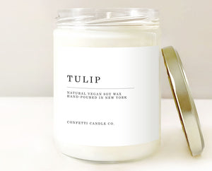 Tulip Candle Vegan Natural Soy Wax
