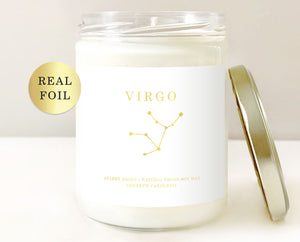 Zodiac Candle Vegan Starry Night Natural Soy Wax Candle