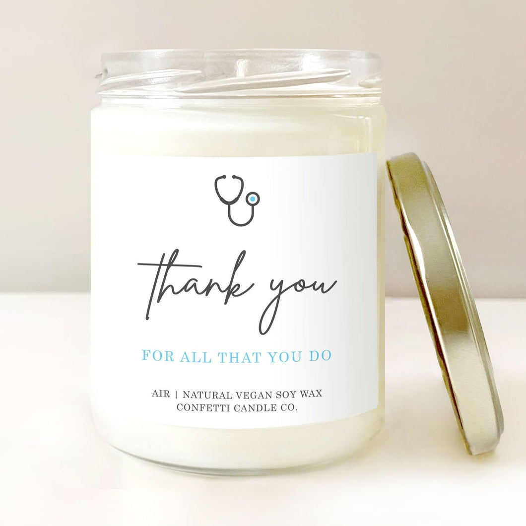 Nurse Doctor Candle Thank You Gift | Vegan Soy Wax Candle