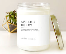 Load image into Gallery viewer, Apple + Berry Vegan Soy Candle