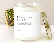 Load image into Gallery viewer, Potpourri Spice Vegan Soy Wax Candle