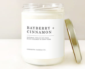 bayberry cinnamon soy candle, soy wax candle, bayberry candle, joy candle,  winter berry candle, spice candle, winter candle, holiday candle, christmas candle, soy wax candle