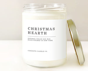 christmas hearth candle