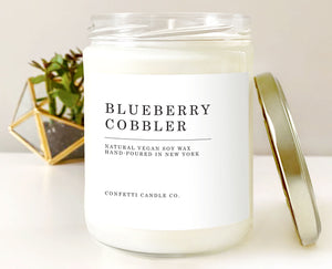 Blueberry Cobbler Vegan Soy Candle