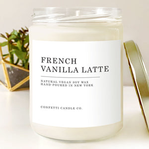 French Vanilla Latte Soy Candle