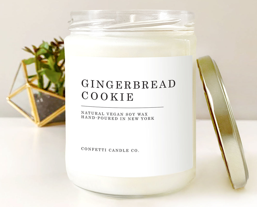 Gingerbread Cookie Vegan Candle Soy