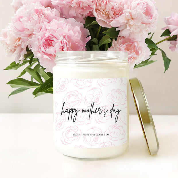 Mother's Day Peony Soy Candle 1