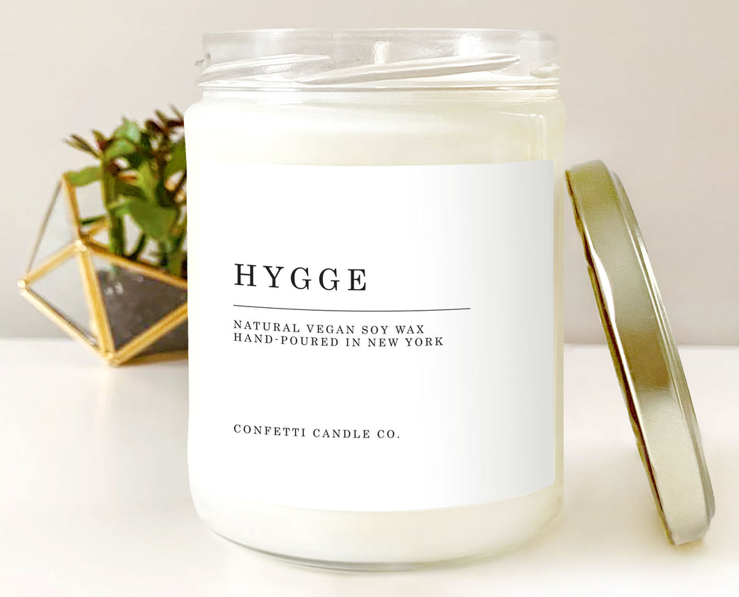 Hygge Candle Natural Soy Wax Candle Vegan