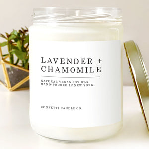 Lavender + Chamomile Natural Soy Wax Candle
