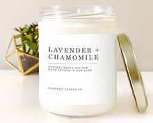 Load image into Gallery viewer, Lavender + Chamomile Natural Soy Wax Candle