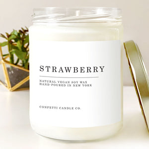 Strawberry Vegan Soy Wax Candle