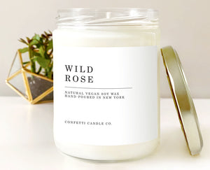Wild Rose Scented Natural Soy Wax Candle