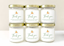 Load image into Gallery viewer, 48, 4 Ounce Personalized, Hand-Poured Soy Candles For Corporate Gifts, Employees, Executives, Clients, Customers, Thank You Gift | Custom Printed With Your Promotional Logo