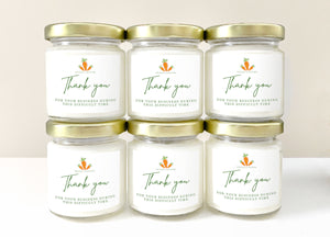 48, 4 Ounce Personalized, Hand-Poured Soy Candles For Corporate Gifts, Employees, Executives, Clients, Customers, Thank You Gift | Custom Printed With Your Promotional Logo