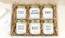 Load image into Gallery viewer, Halloween Soy Candle Set | Set of 6, 8 oz Vegan Pumpkin Spice Scented Candles