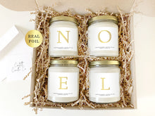 Load image into Gallery viewer, NOEL Soy Candles Set | Natural Soy Wax | Christmas Hearth Candles Gift