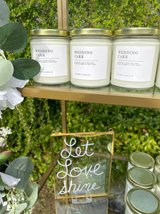 Wedding Cake Vegan Soy Candle