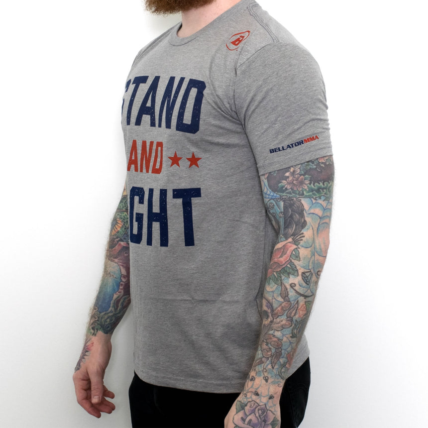 Stand and Fight Crew - Dark Heather Grey Front