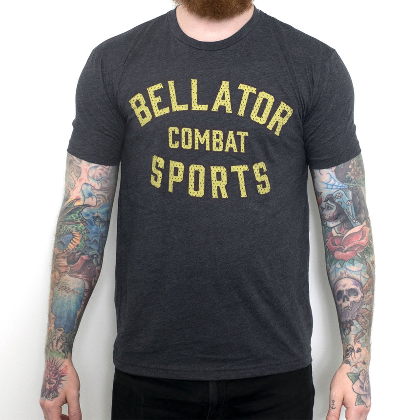 Bellator Combat Sports Crew - Charcoal Heather front
