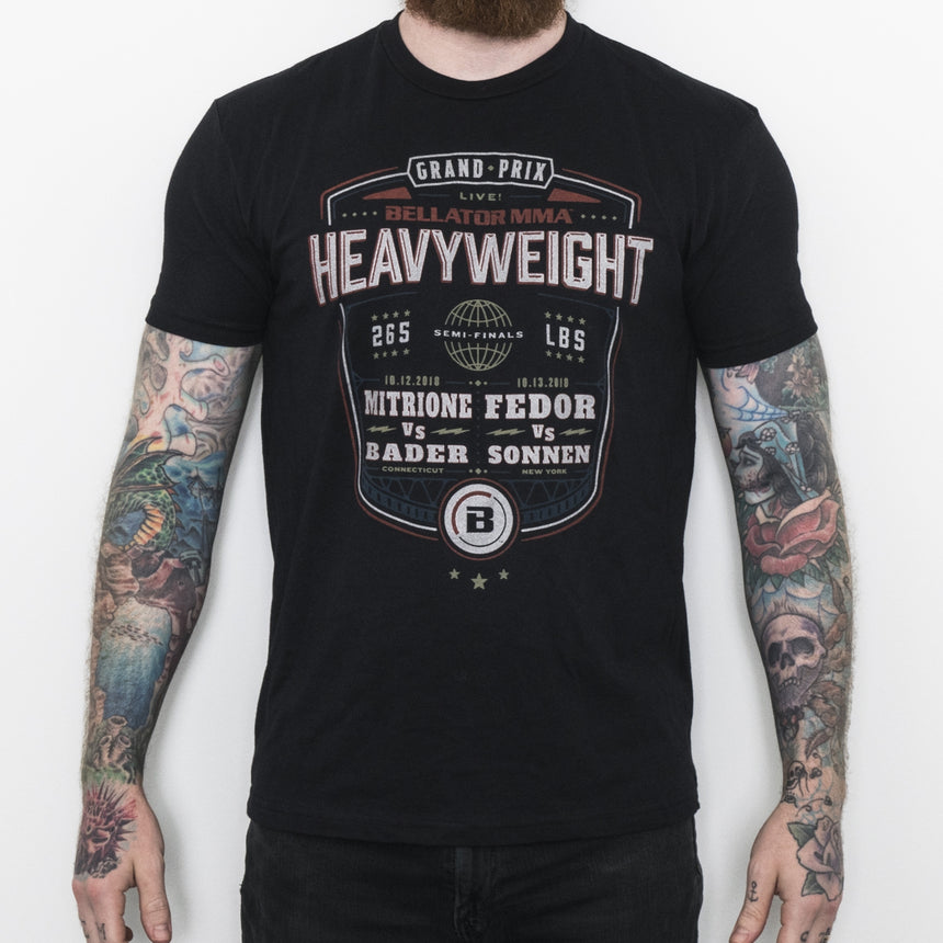 BELLATOR HEAVYWEIGHT GRAND PRIX SEMI FINAL TEE - Black