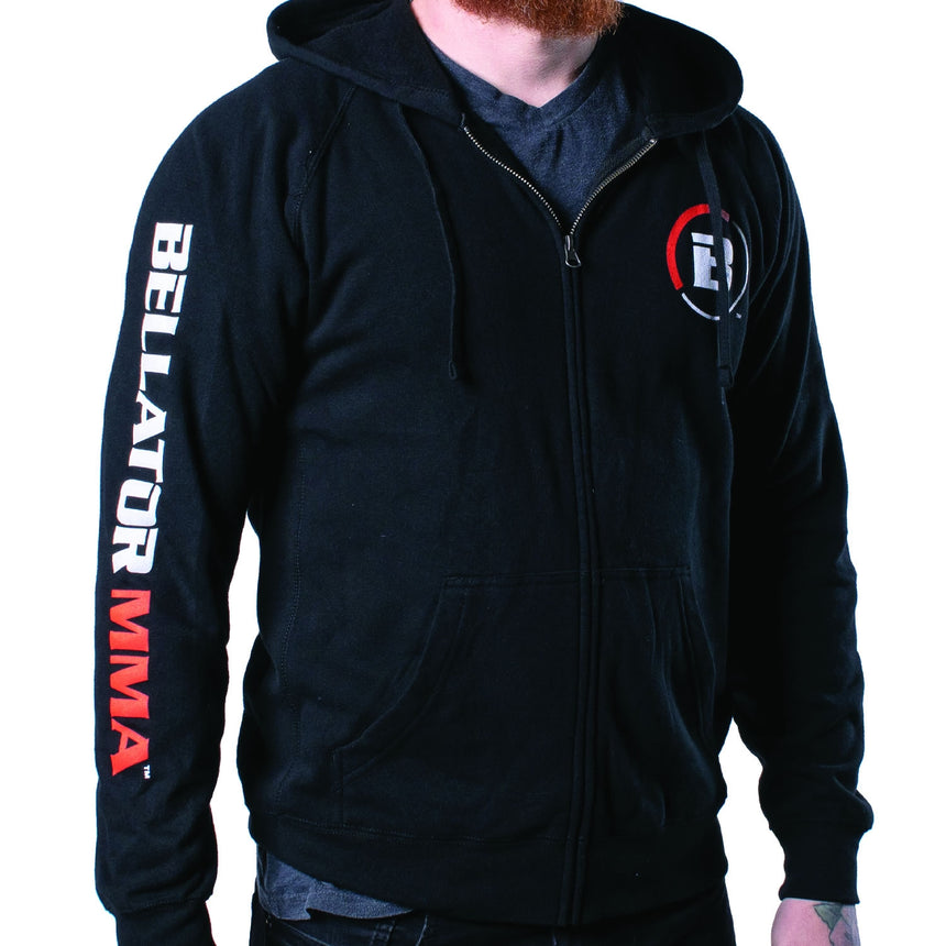 Bellator Icon Full Zip Hoodie - Black front