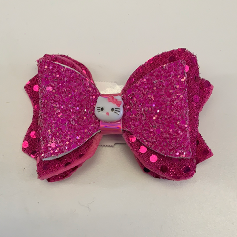Small Hair Bow Clip Valentines