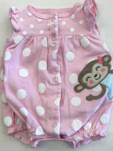 Girls Outfit 1 piece Romper Carter's NB