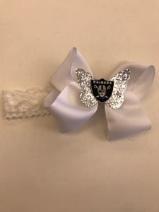 Headband Raiders Hair Bow Infant