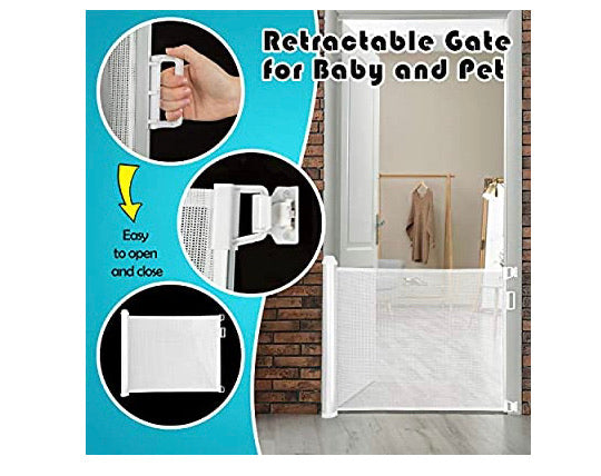 Babepai Retractable Safety Gate Super Easy Installation